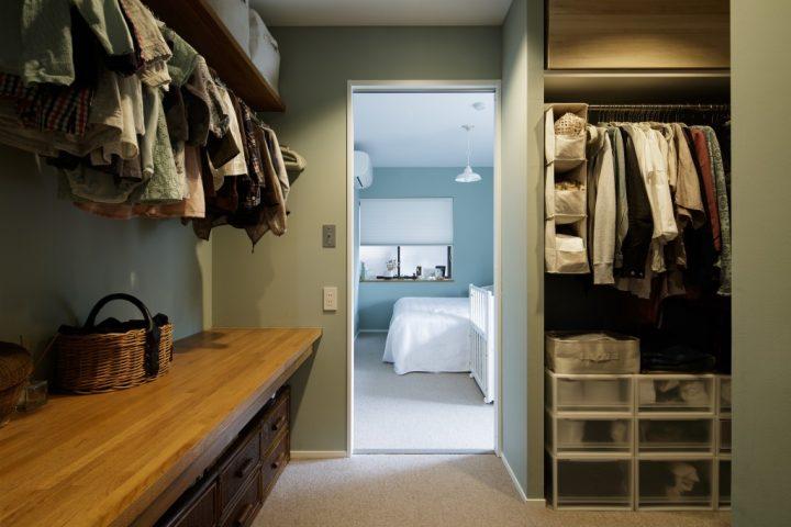 おしゃれな家事室のあるリノベーション実例13