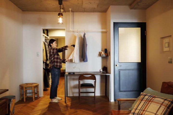 おしゃれな家事室のあるリノベーション実例2