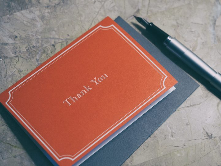 ちょっとしたお礼の言葉に使える例文《手紙》