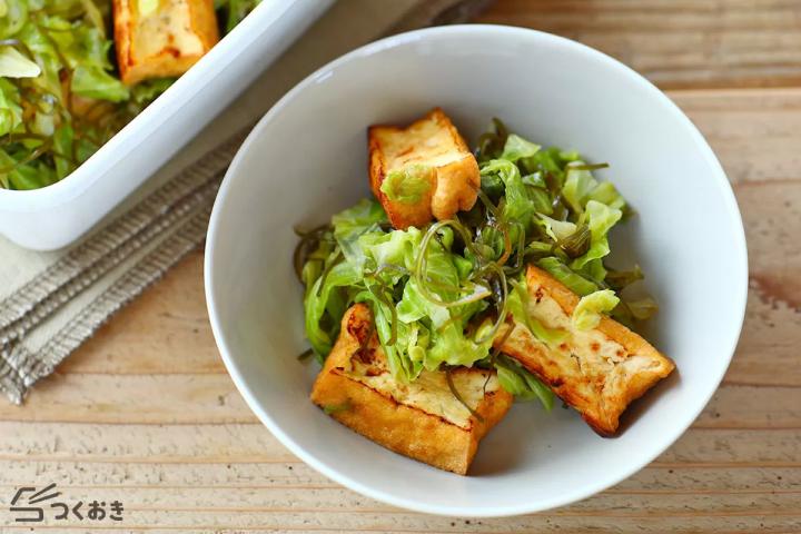 簡単♪厚揚げ豆腐とキャベツのさっと煮レシピ