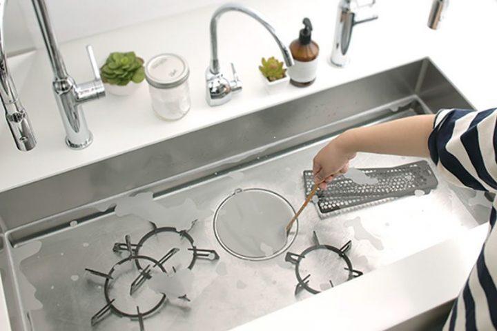 シンクでの丸ごとつけ置き洗いをお助け