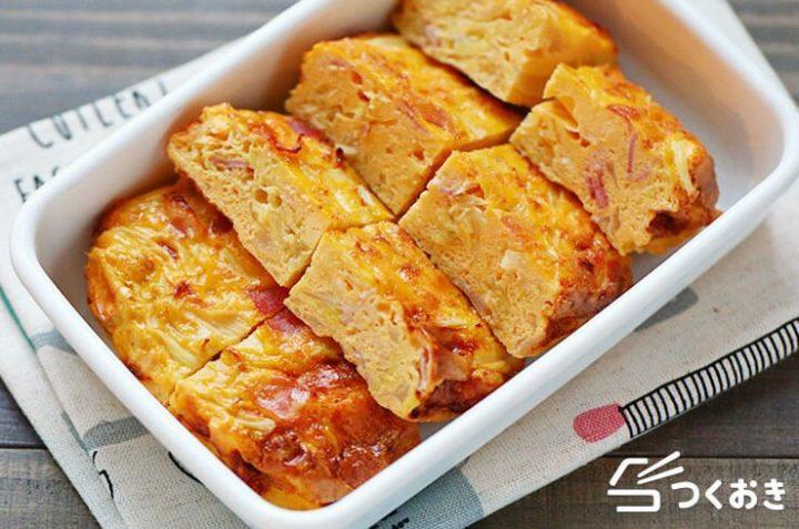 簡単調理で人気副菜!キャベツのオープンオムレツ