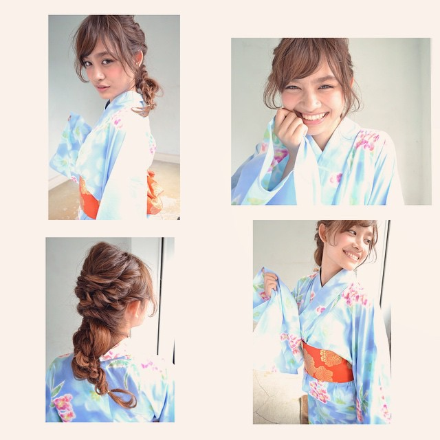 浴衣×ダウンスタイルでゆるっとアレンジ