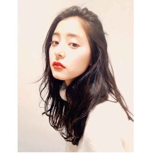 かきあげ×ラフカットの前髪なし韓国風ロング