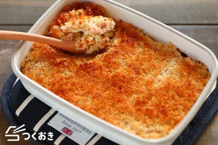 人気料理!鮭とクリームチーズのスコップコロッケ