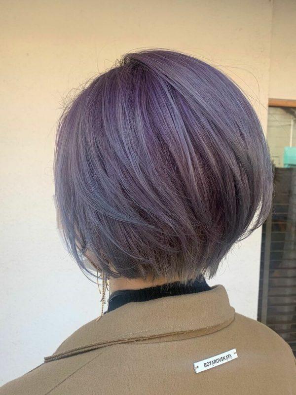 ショートさんにおすすめ!紫のグラデーション