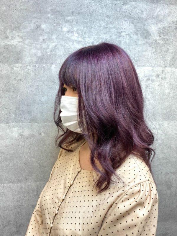 韓国ヘアとも相性がいい赤みがかった髪色