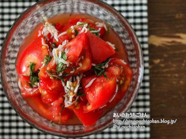 定番の副菜!人気のトマトのしらす入りお浸し