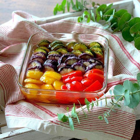 献立の彩りに!和食に合う夏野菜の簡単マリネ