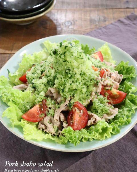 食感◎冷凍きゅうりと豚しゃぶのサラダレシピ