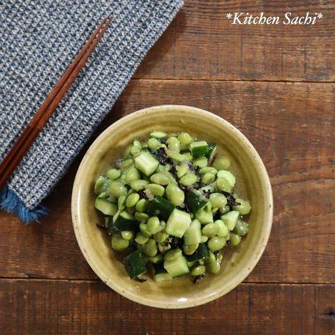 枝豆ときゅうりの塩昆布オニオンマリネレシピ