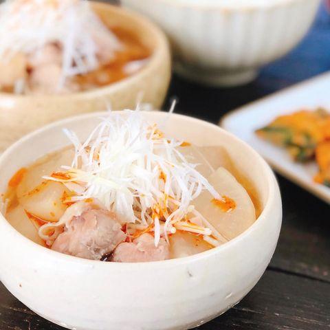 大根と鶏肉のピリ辛のスープ煮