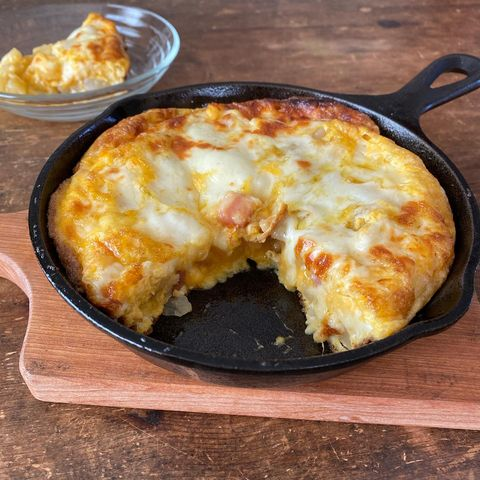 絶品!ベーコンじゃがのチーズ卵焼きレシピ