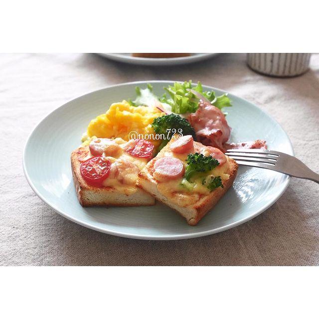 ウインナーで簡単!ピザトースト
