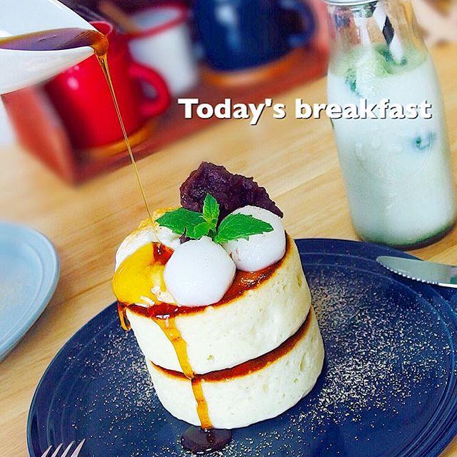 洋菓子にプラス!白玉アレンジパンケーキ