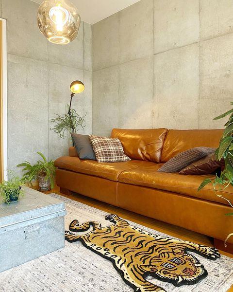 イエローのソファ