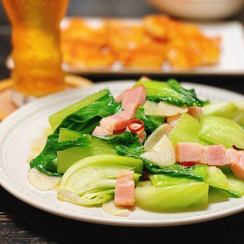 洋食の副菜に!チンゲンサイのペペロン炒め