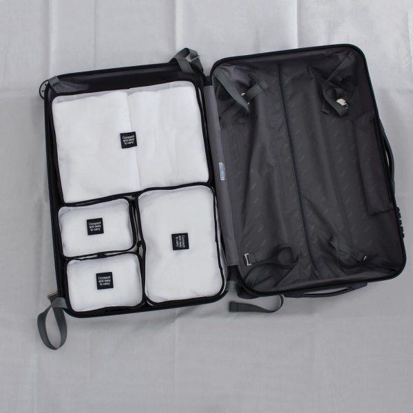 スーツケースにぴったり収まる
