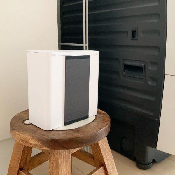 towerの洗剤ボールストッカーを浮かせるゴミ箱に3