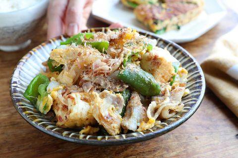 厚揚げ豆腐のピーマンチャンプルーレシピ