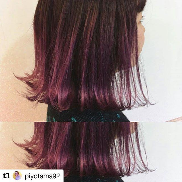 こっくり濃いめの紫のグラデーション