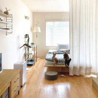 狭いワンルームをおしゃれにレイアウト。家具の配置を変えるだけで心地良い空間に