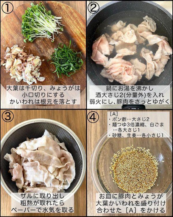 豚しゃぶの香味サラダ3
