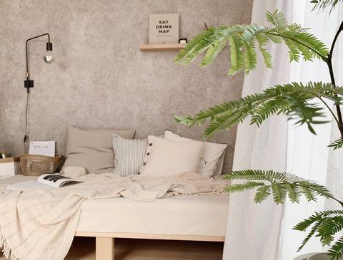 壁面収納やライトがおしゃれな実例