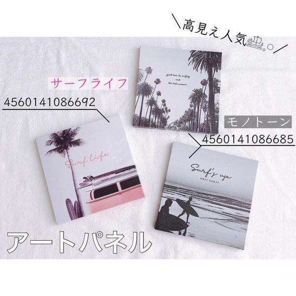 夏におすすめのセリア新商品アートパネル