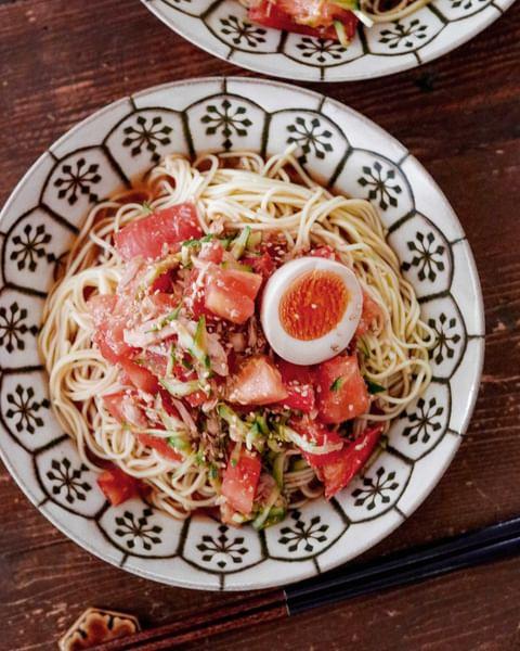 人気の献立!ツナとトマトの冷やし中華