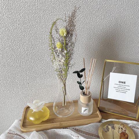部屋のアクセントになる装飾:ドライフラワー