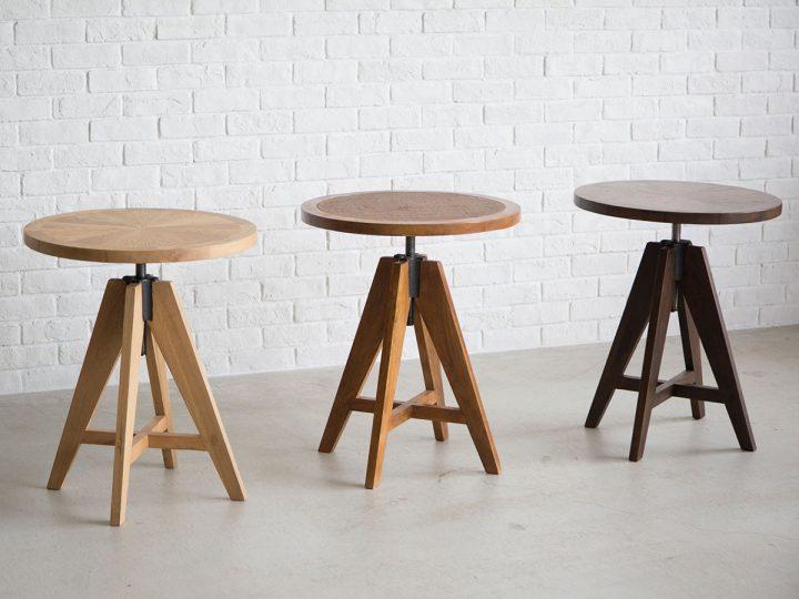 カフェ風インテリアに人気の昇降式テーブル