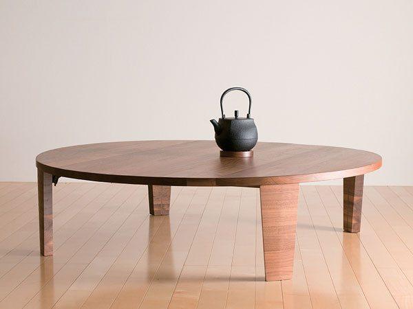 木目がおしゃれなモダンちゃぶ台風ローテーブル