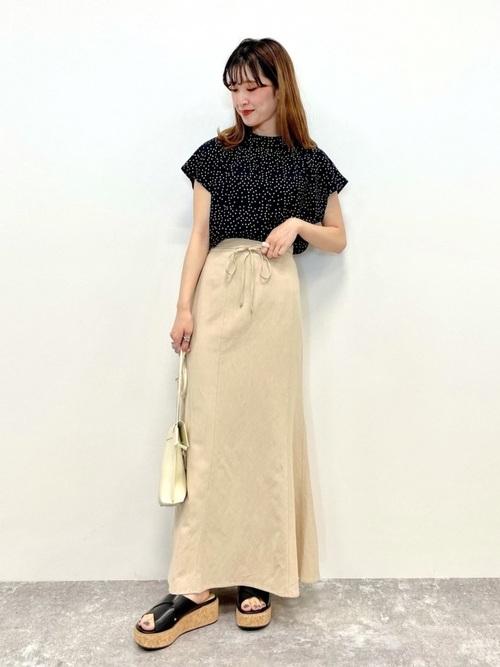 フレンチブラウス×マーメイドスカート