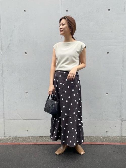 [URBAN RESEARCH] 【WEB限定】ドットプリントフレアスカート