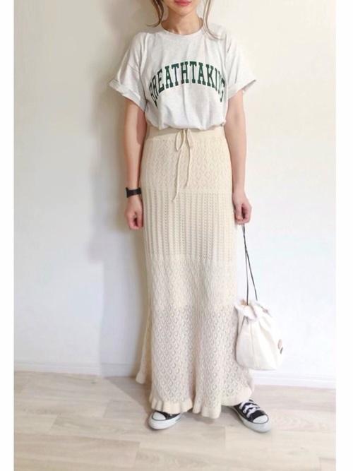 GU透かし編みスカート