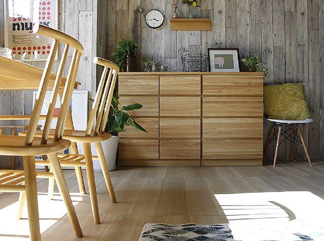 木製の家具で自然いっぱいのお部屋に