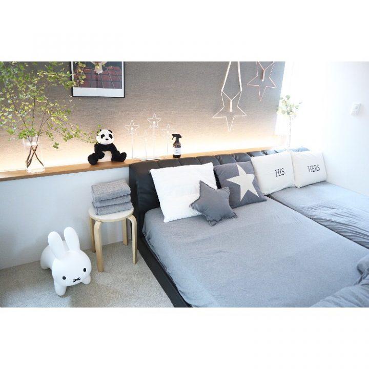 北欧スタイルのおしゃれな寝室レイアウト