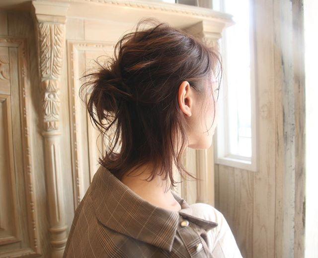 お団子ハーフアレンジの浴衣に合う大人な髪型