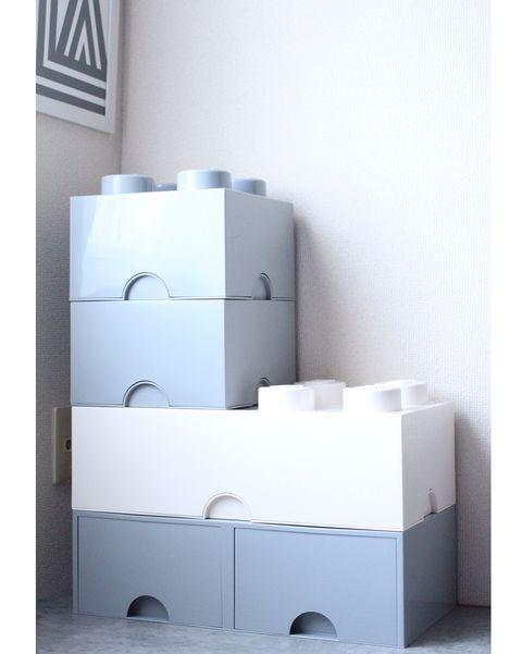 おしゃれな収納ボックスで作るワンルームレイアウト
