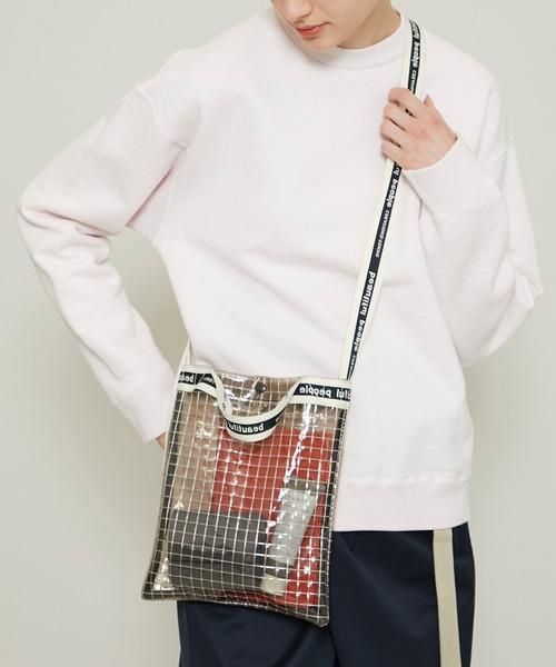 【beautiful people(ビューティフルピープル)】《STUDIOUS別注》ビニールサコッシュバッグ