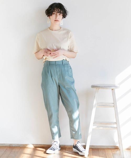 【Chaco closet】オーバーサイズクルーネック半袖 Tシャツ