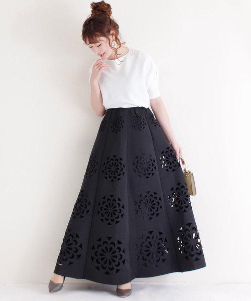 [Sawa a la mode] 魅せるカットワークのロングスカート