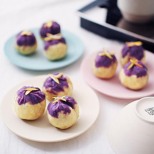 おしゃれ和菓子♡2色のさつまいも巾着レシピ