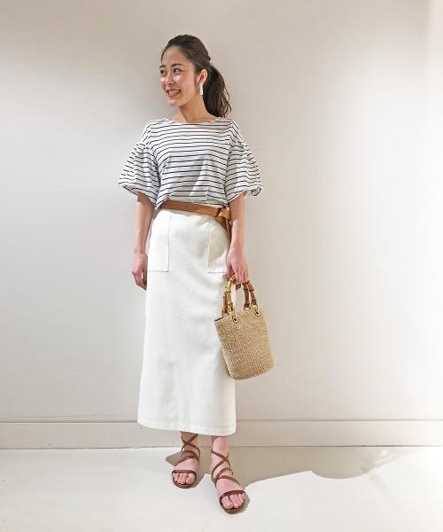 [allureville] 《洗える》綿麻オックスタイトスカート