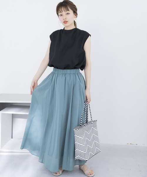 【WEB限定】エアリーマキシスカート