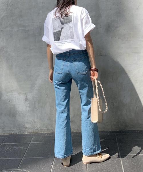 【Lian】オーバーサイズフォトプリントTシャツ