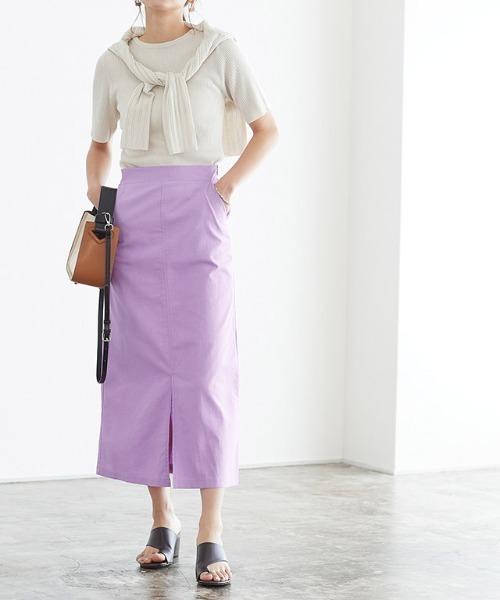 綿麻ナロースカート