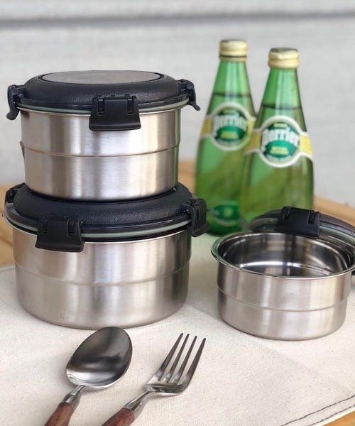 [DULTON] SS FOOD CONTAINER ROUND M