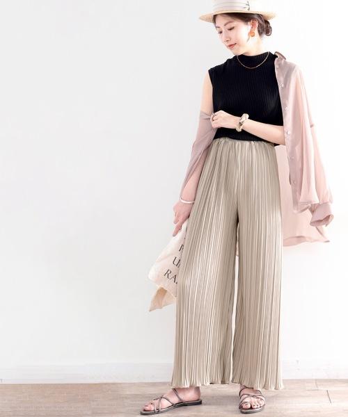 [Classical Elf] エアリーに揺れる。裾メローフレアプリーツパンツ